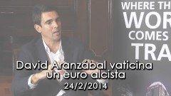 David Aranzábal entrevistado en el plato TV de Bolsamania. Vaticina un euro alcista. Hotel Palace Madrid