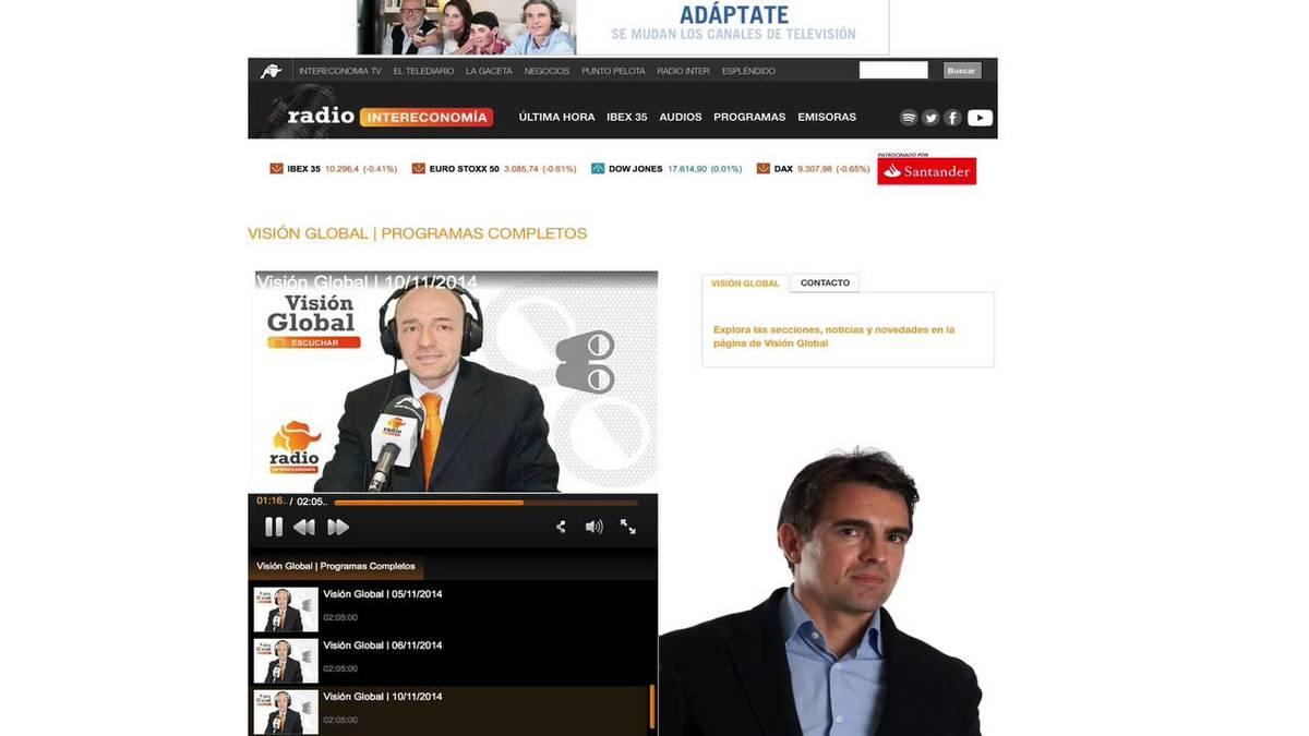 David Aranzabal en Radio Intereconomía