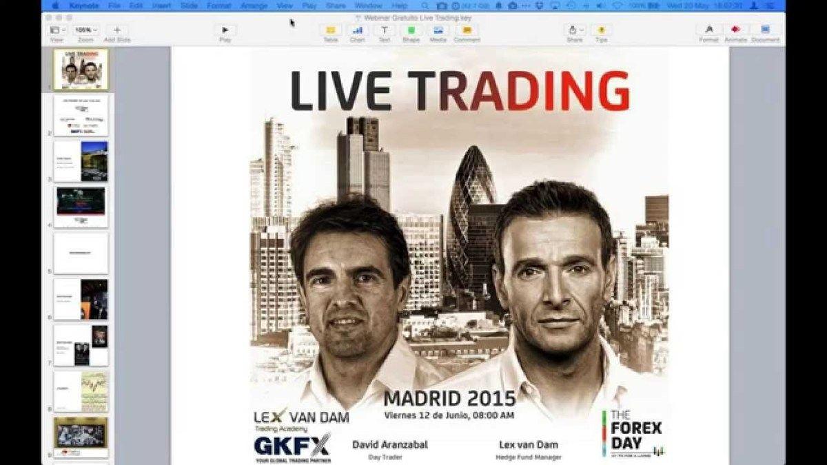 Live Trading Lex van Dam + David Aranzabal