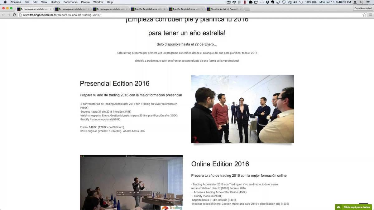 """Grabación del webinar """"Planifica tu año de trading 2016"""""""