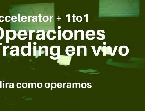 Operaciones realizadas en nuestro trading Accelerator 2.0. Trading en vivo