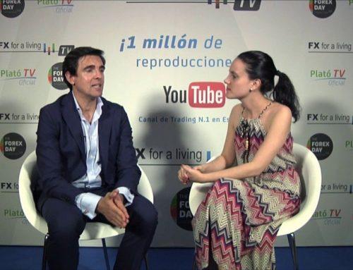 David Aranzabal entrevistado en el plato de TV del #forexday