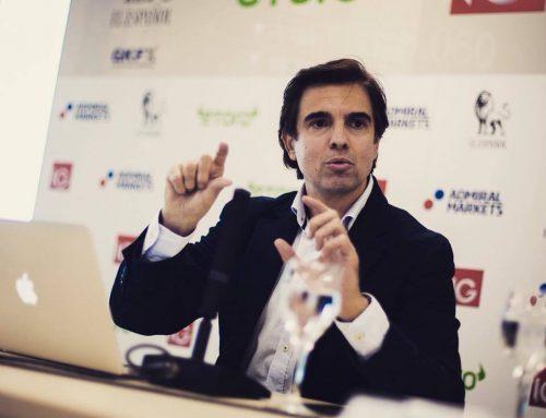 David Aranzabal hablando de oportunidades en Bitcoin como ponente del 1º foro Trading del Periódico el Español